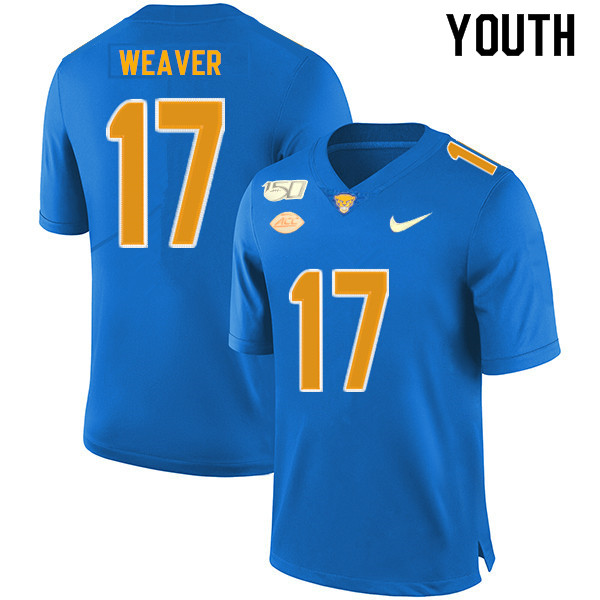 2019 Youth #17 Rashad Weaver Pitt Panthers College Football Jerseys Sale-Royal