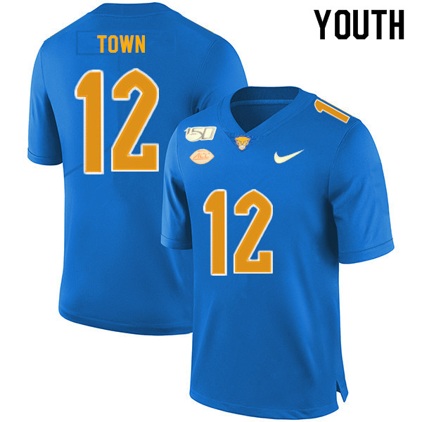 2019 Youth #12 Ricky Town Pitt Panthers College Football Jerseys Sale-Royal