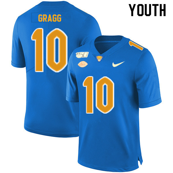 2019 Youth #10 Will Gragg Pitt Panthers College Football Jerseys Sale-Royal